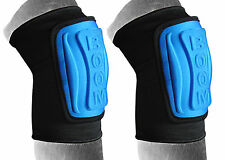 BOOM Pro Elasticated, Embassed, Volleyball  Wrestling MMA Knee Pads, Protector