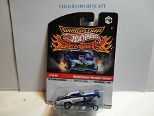 Hot Wheels Drag Strip Demons Blue Roland Leong's Hawaiin Charger w/Real Riders