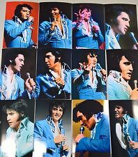 Elvis Presley: 12 Photo Set in Blue Tapestry Jumpsuit, February 1970 & FREE CD!