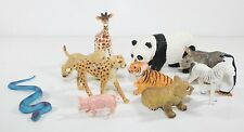 10 Safari Ltd  other Lot  Panda Bear Tiger Giraffe Rhino Leopard Solid Plastic