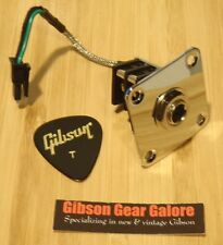 Gibson Les Paul Standard 1/4 Inch Input Jack Guitar Parts Quick Connect HP Plate