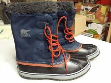NIB - Sorel Men's Pac Nylon 1964 Navy Blue Boots Waterproof Size 9.5