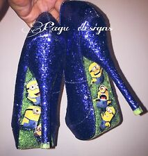 Minions  High Heels, Glitter Shoes, Party Adorable Shoes