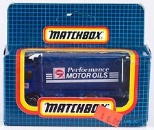 Matchbox MB 20 Volvo Container Truck Performance Motor Oils 1987 MIB