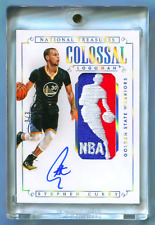 2014-15 NATIONAL TREASURES COLOSSAL LOGOMAN PATCH AUTOGRAPH AUTO STEPHEN CURRY