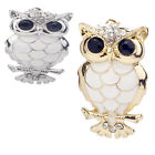 Gold/Silver Plated Owl Shape Crystal Rhinstone Brooch Pin Women Jewelry Gift