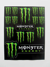 Monster Energy Drinks Logo Sheet of 14 Stickers Decals ATV BMX Bike Skateboard