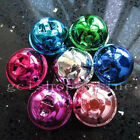 """Lot 10 Assorted Color Jingle Bell Charms for Huge 30mm 1.25"""" 1 1/4 inch"""