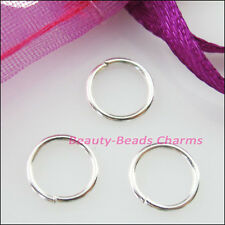 25Pcs Jump Rings Open Connector Gold Dull Silver Bronze Copper Black Plated 20mm