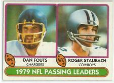 ROGER STAUBACH & DAN FOUTS 1980 Topps Football card #331 Chargers Cowboys EX