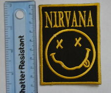 #199 NIRVANA Classic Smiley HAPPY FACE  Embroidered Patch iron/sew
