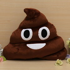 New Cute Cushion Emoji Smiley Emoticon Poop Shaped Doll Toy Soft Pillow AE