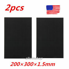 2pcs 200×300×1.5mm With 100% Real Carbon Fiber plate panel sheet 3K plain weave