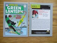1991 VINTAGE DC I GREEN LANTERN SHOWCASE # 22 CARD SIGNED JOE GIELLA, WITH POA