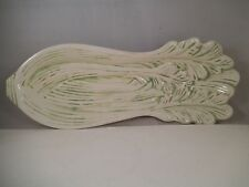 Vintage Vegetable Art Pottery Dish Bowl Celery MCQ 1980