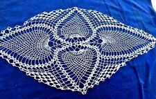 Antique Grandma's Doilies Crochet TIGER LILY Marble Palm Leaf Table Cover Cloth