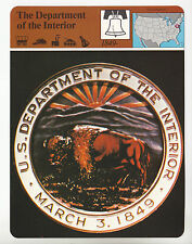 THE U.S. DEPARTMENT OF THE INTERIOR Logo Seal Photo 1980 STORY OF AMERICA CARD