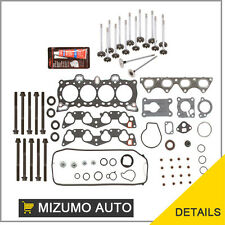 Fit 92-95 Honda Civic D15B7 Head Gasket Set Bolts Intake Exhaust Valves Kit