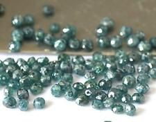 (10 PIECES) BLUE DIAMOND (TREATED) BEADS FACETED 1.5 - 2 MM #C12563
