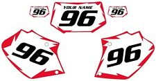 1996-2004 HONDA XR400 Custom Pre-Printed White Backgrounds Red Shock Series