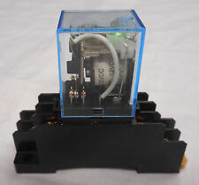12 VOLT DC BOBINA 8 PIN DPDT POWER RELAY C / W Socket base 10 AMP ly2nj - 12VDC