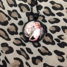 Marilyn Monroe Necklace -  Glass Cabochon Pendant With Chain - Vintage Monroe