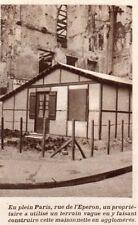 IMAGE 1919 PRINT PARIS RUE DE L EPERON FABRICATION MAISONETTE AGGLOMERE