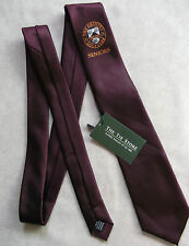 THE GRIMSBY GOLF CLUB SENIORS TIE BURGUNDY WITH ORIGINAL TAG NEW & UNUSED BNWT
