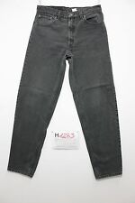 Levi's 550 relaxed fit nero boyfriend jeans usato (Cod.H1283) Tg.48 W34 L32