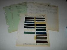 1937 1938 NASH LA FAYETTE PAINT CHIP CHART COLORS SHERWIN WILLIAMS PLUS MORE