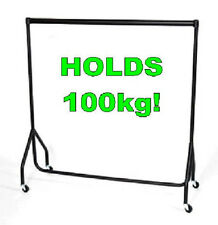 SUPER Heavy Duty Clothes Rail 3ft Long x 5ft High Garment Hanging Storage Rack