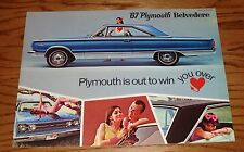 Original 1967 Plymouth Belvedere Sales Brochure - Canadian 67 GTX Satellite