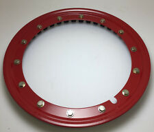 "Simulated beadlock Hubcap wheel rings -16"" RED Press fit on any 16"" Steel Wheel"