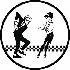 ska man beat girl car vinyl sticker graphic music band window decal mod madness