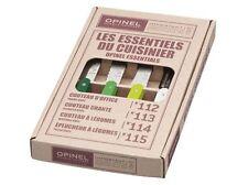 Opinel Gemüsemesser-Set Primavera 4-teilig, rostfreie Küchenmesser mit Holzgriff