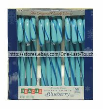 BRACH'S 12pc Candy Canes BLUEBERRY 6 oz Holiday Box SANTA'S CHOICE Exp. 6/18+