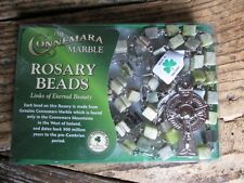Irish Connemara Marble 5 Decade Rosary Beads. Handmade in Ireland. New