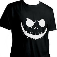 Jack Skellington Halloween Nightmare Short Sleeve Unisex Cotton T-Shirt Size M