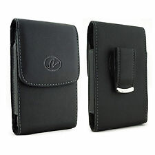 Leather Case Pouch Holster For LG 441G w/ Extended Battery on it