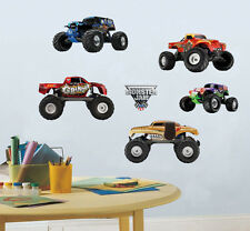 Monster Jam Trucks Boys Wall Sticker Kids Decal Art Nursery Decor Mural Gift DIY