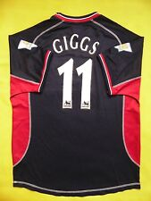 4/5 MANCHESTER UNITED 2000/2001 THIRD ORIGINAL JERSEY SHIRT #11 Ryan Giggs
