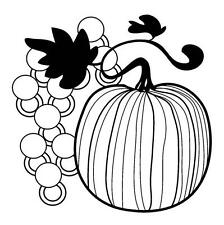 PUMPKIN GRAPE's clear acrylic unmounted RUBBER STAMP! NEW Thanksgiving Halloween