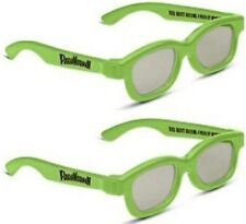 PARANORMAN REAL D  3D  GLASSES ADULT  SIZE  5  PAIRS  , FOR PASSIVE TV