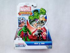 """Playskool Marvel Super Heroes Adventures 2.5"""" Hulk & Thor Action Figure Set New"""