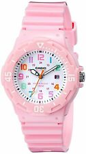 Ladies Casio Pink Rubber Color Numbers Dial Divers Date Sport Watch LRW200H-4B