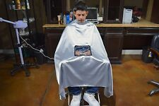 Silver PC Haircut Cape Barber Gown Stylist Viewing Window Hairdresser