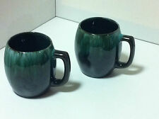 2 Large Blue Mountain Pottery Coffee Tea Cups Beautiful Condition Still With Tag