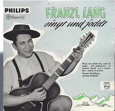 Franzl Lang singt und jodelt  - Thomas Wendlinger Philips 423 179 PE von 1958