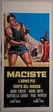 Locandina MACISTE L'UOMO PIU' FORTE DEL MONDO 1°ED.ITAL.1963 RARA! FOREST, ORFEI