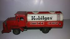 Vintage 1960's Tin Mobilgas Friction Tanker truck Made in Japan